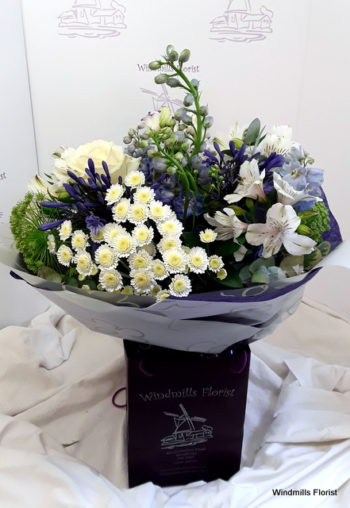 'Blue Skies' Hand Tied
