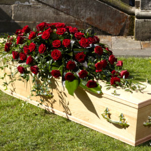 Red Rose Casket