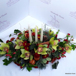 Oblong Candle Arrangement