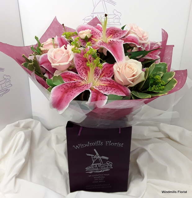 Rose & Lily Hand-tied
