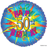 Happy Birthday Balloon 50th