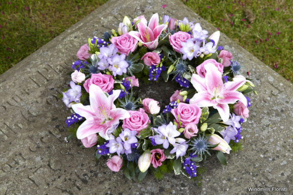 Funeral Tribute Scented Wreath
