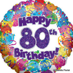 Happy 80th Birthday Single Balloon