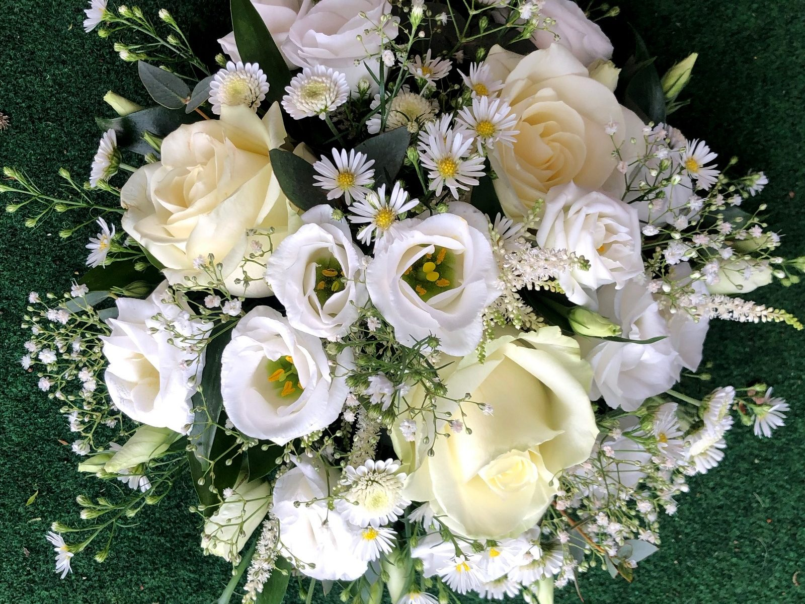 Winter Funeral Posy