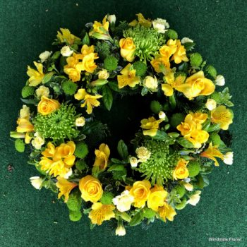 Funeral Wreath Yellow
